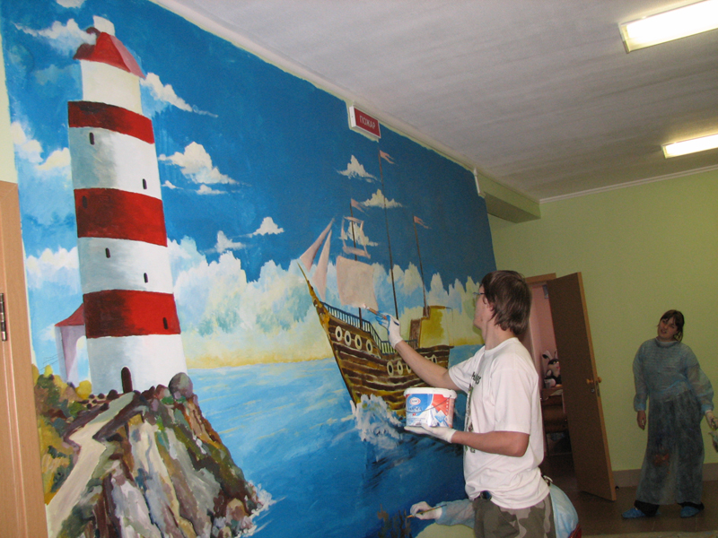 In The Framework Of The Project In Spring 2008 We Went To Sergeyev Posad  Three Times To Paint Murals On The Walls Of Childrenu0027s Bedrooms. Part 87